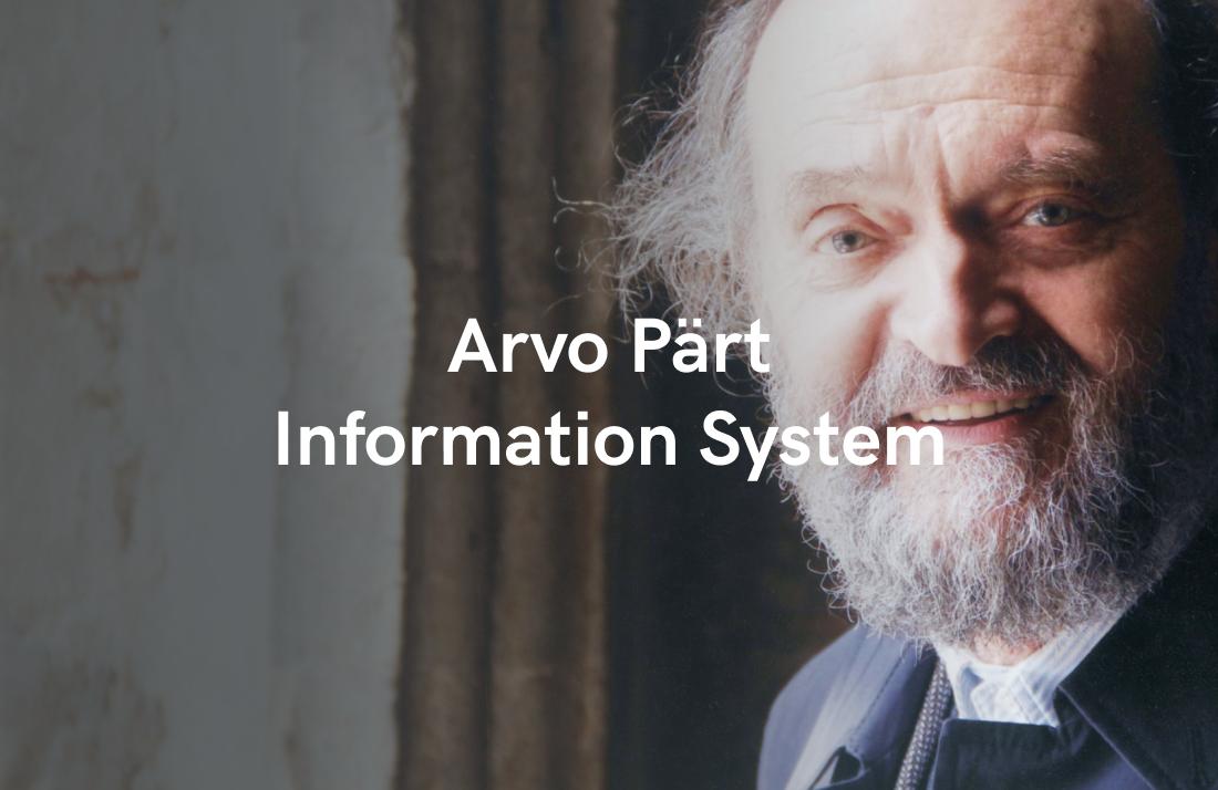 Arvo Pärt Information System